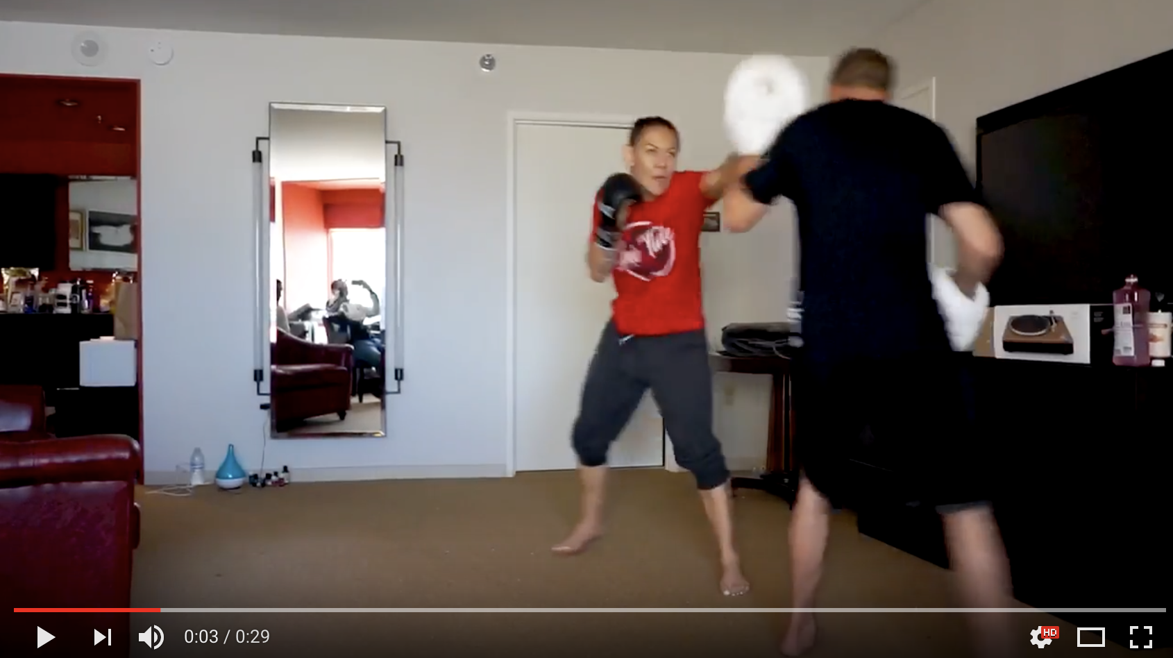 LEAKED VIDEO FOOTAGE: Watch video of Cris Cyborg hitting pads the