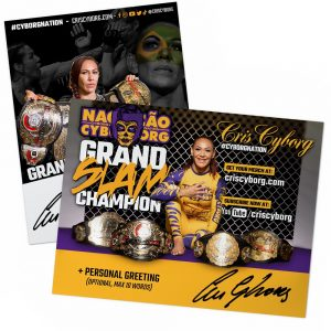 Cris Cyborg Autographed 8×10 Flyer with personal message